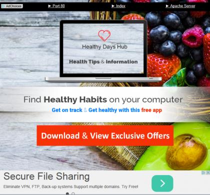 Healthy Days Hub Removal