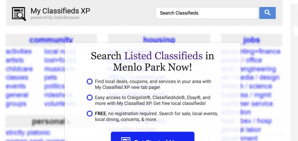 my classifieds xp removal